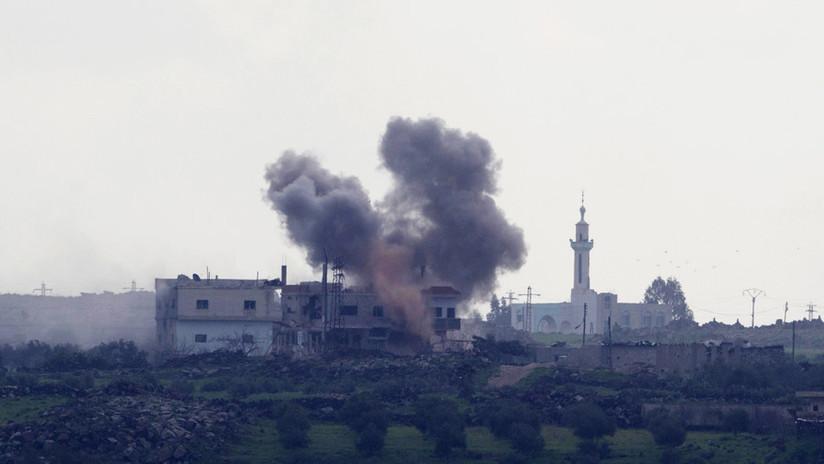 Fuerzas israelíes atacan un puesto fronterizo del Ejército sirio en respuesta a fuego de artillería