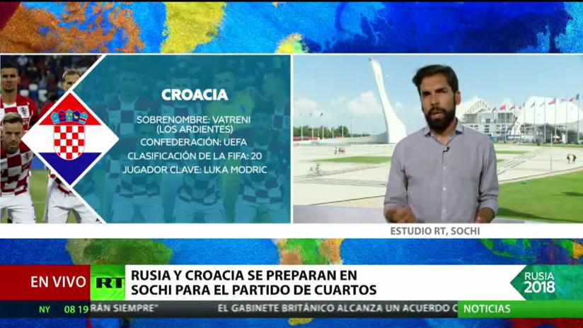 Rusia y Croacia se preparan en Sochi para su partido de cuartos