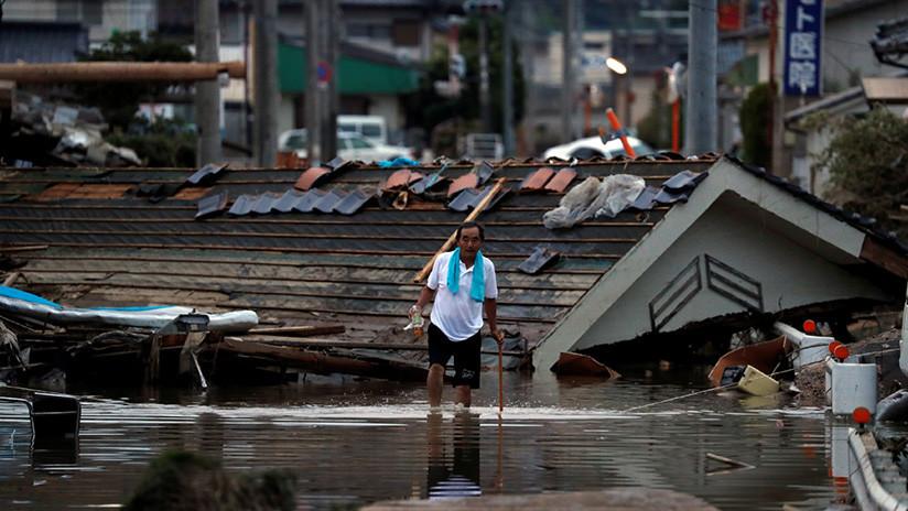 Más de 100 muertos en Japón tras inundaciones y derrumbes