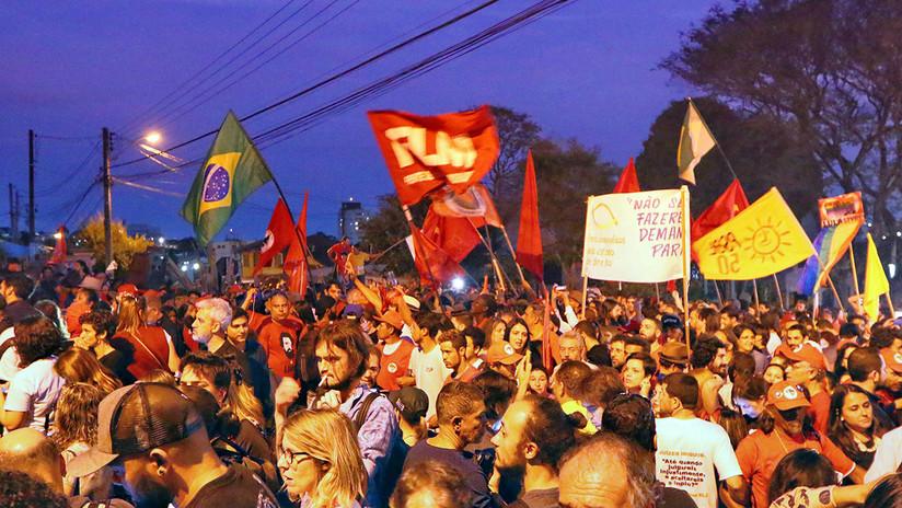 VIDEO: Brasileños salen a las calles para exigir liberación de Lula da Silva