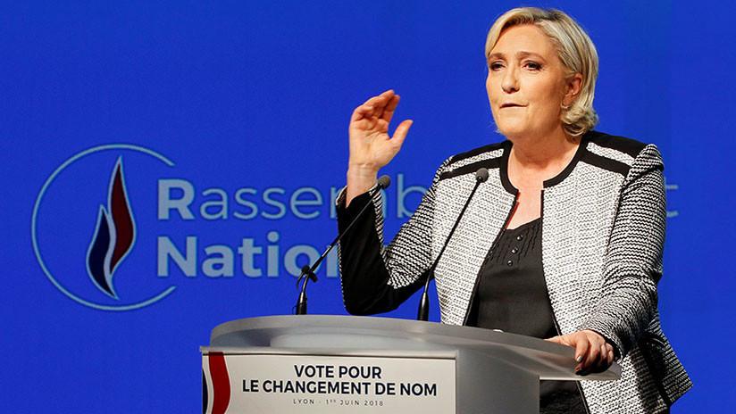 """Francia: El partido de Marine Le Pen podría """"morir en agosto"""" por el bloqueo de subsidios estatales"""