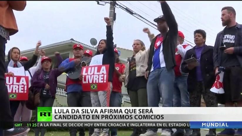 Lula afirma que será candidato en las próximas elecciones