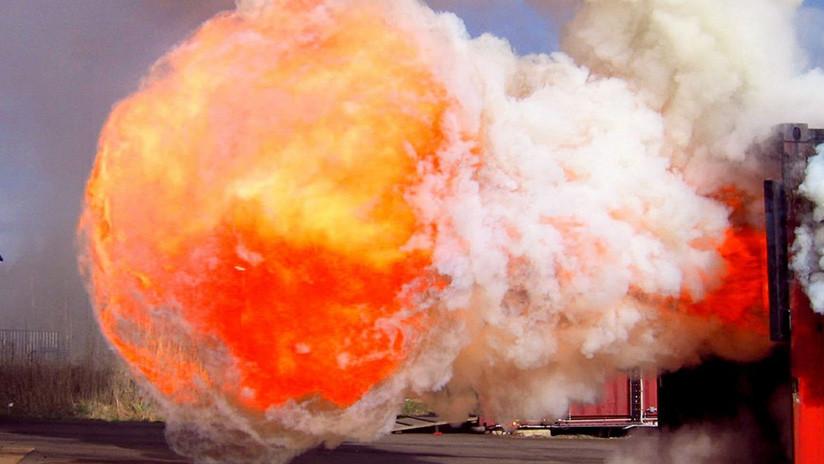 'Sí, puedo hablar. ¿Ese ruido? Solo fue una explosión': Esta rusa tiene los nervios de acero (VIDEO)
