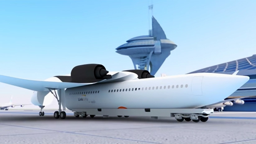 ¿Embarcar sentados?: Así es el 'tren volador' con alas desmontables (VIDEO)