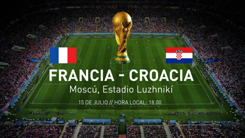 Francia y Croacia se disputarán la Copa del Mundo 2018: ¡No se lo pierda!