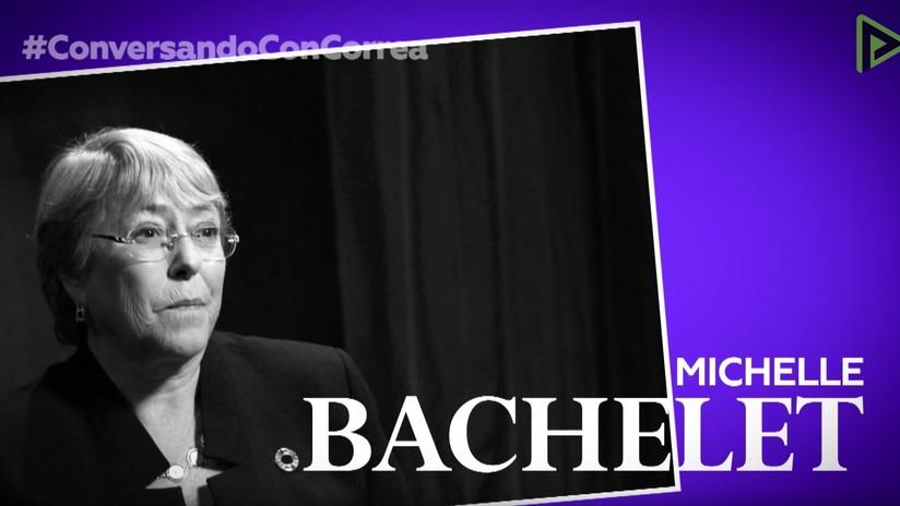 """Michelle Bachelet a Correa: """"Es inaceptable que a una mujer presidenta se le evalúe por la ropa"""""""