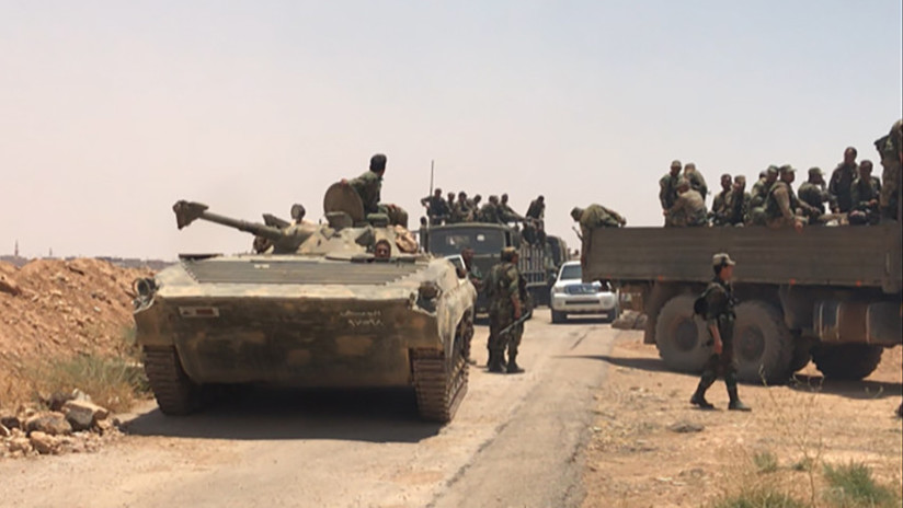 Resultado de imagen para El Ejército de Siria toma el control de la frontera con Jordania