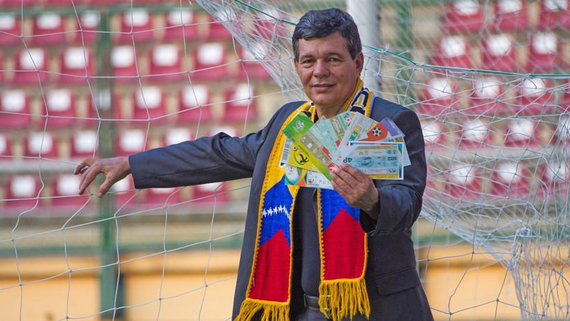 El venezolano que ha ido a 10 mundiales busca batir su propio récord Guinness en Rusia