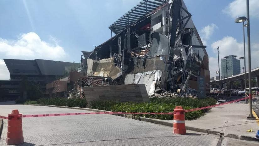 Resultado de imagen para Se desploma una parte del centro comercial Artz Pedregal en la Ciudad de México