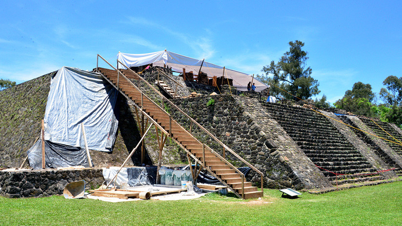 Tras sismo en México hallan antigua estructura en el interior de una pirámide