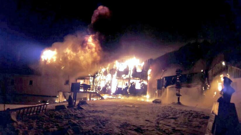 VIDEOS: Incendio en la Antártica de Chile provoca daños en instalaciones de la Gobernación Marítima