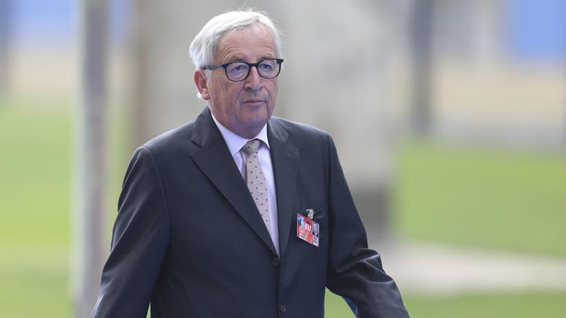 Las inquietantes imágenes de Juncker, según la TV suiza