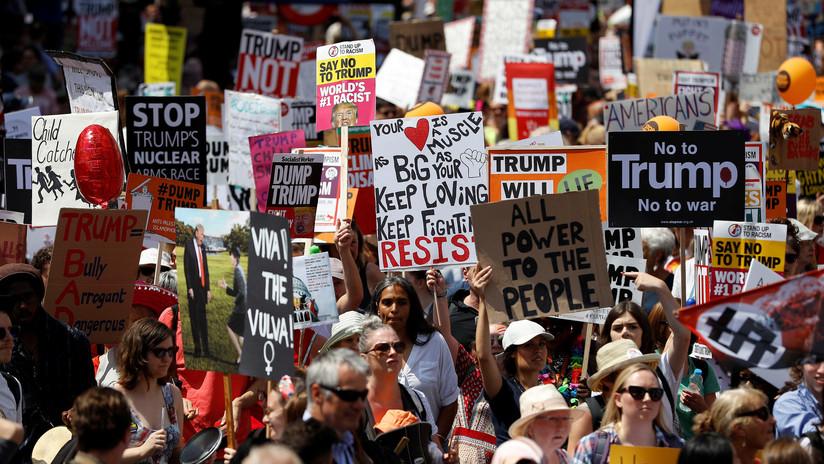 VIDEOS: Protestas en Londres contra la visita de Trump