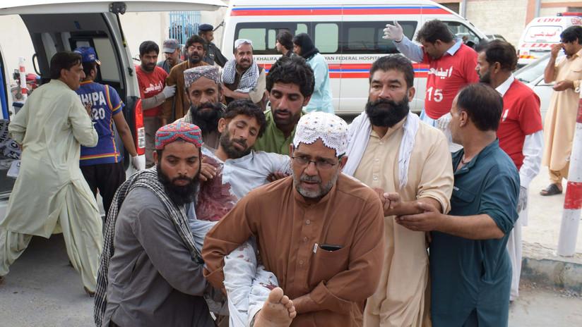 FUERTE VIDEO: Al menos 130 muertos por un atentado del Estado Islámico en Pakistán