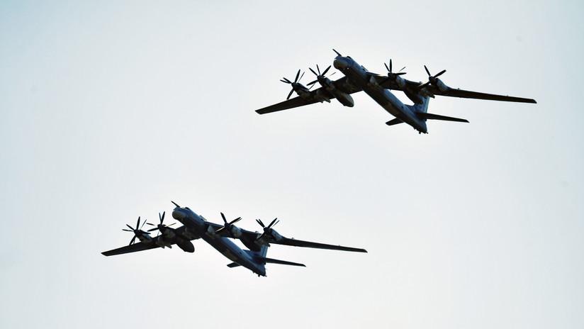 Cazas surcoreanos y japoneses escoltan a dos aviones rusos sobre el mar de Japón y el mar Amarillo