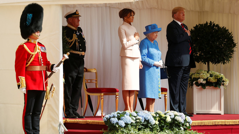 VIDEO: Donald Trump se reúne con la reina británica Isabel II