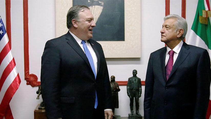 """López Obrador entrega a Pompeo propuesta para Trump de """"entendimiento"""" entre México y EE.UU."""