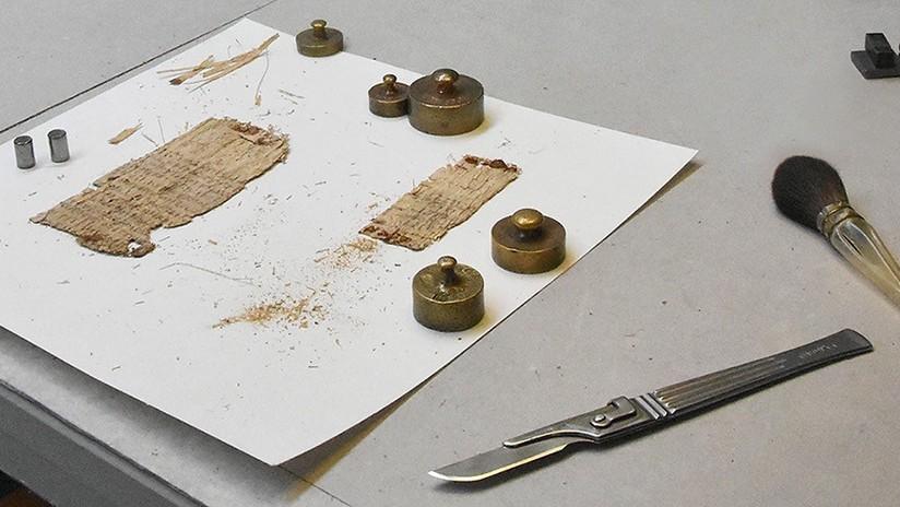 Desvelan el misterio de un papiro de Basilea escrito en espejo hace 2.000 años