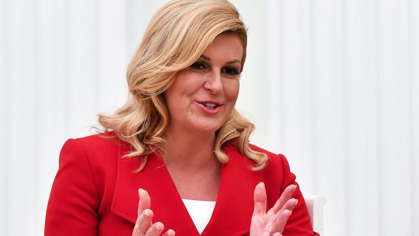 """""""Debemos trabajar juntos"""": La presidenta de Croacia se opone al aislamiento de Rusia"""