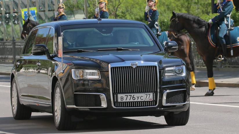 Putin se desplaza en Helsinki a bordo de la limusina rusa Kortezh por primera vez en el exterior