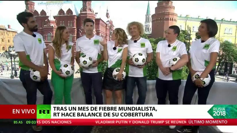 RT evoca los mejores momentos de la cobertura del Mundial Rusia 2018