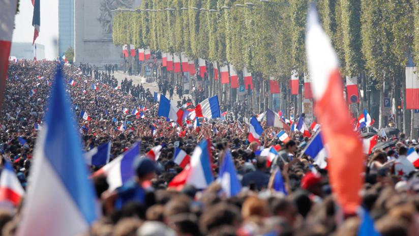 VIDEO: Desfile de la victoria en París para celebrar triunfo de Francia en el Mundial Rusia 2018