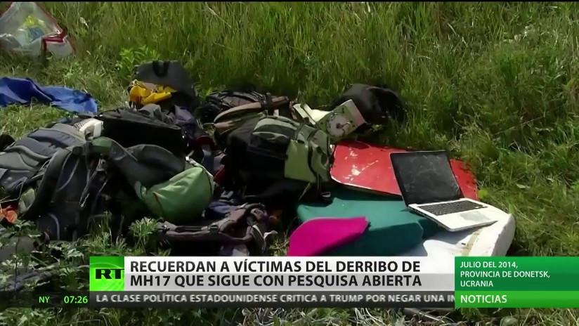 Recuerdan a víctimas del derribo del MH17, cuya pesquisa sigue abierta