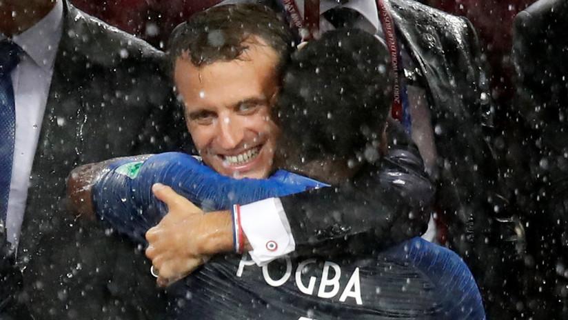VIDEO: Pogba y Macron celebran con el DAB Dance la victoria de Francia en el Mundial