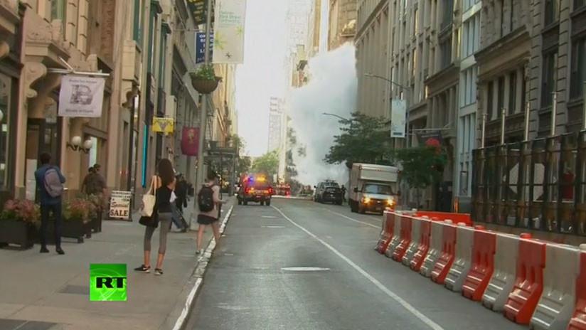 Resultado de imagen para Evacuan una zona de Manhattan debido a la explosión de una tubería de vapor
