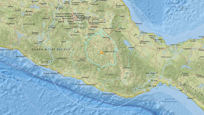 Se registra sismo de magnitud 5,9 en México