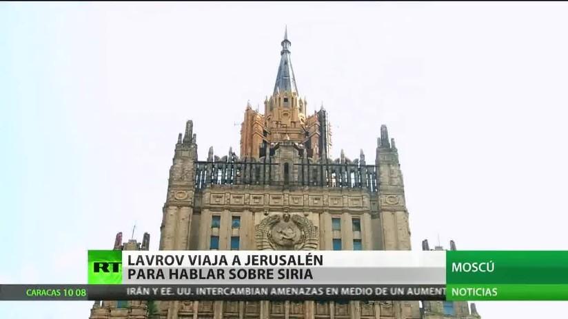 Lavrov viaja a Jerusalén para hablar sobre Siria con el primer ministro de Israel