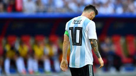 El jugador argentino Lionel Messi durante un partido del mundial de Rusia 2018.