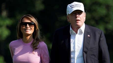 Melania y Donald Trump, el 1 de julio de 2018