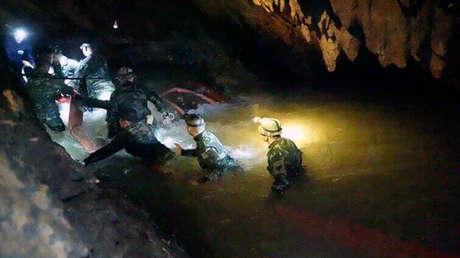 Cueva de la provincia Chiang Rai dónde desaparecieron los 12 niños y su entrenador, en el norte de Tailandia, el viernes 29 de junio de 2018.