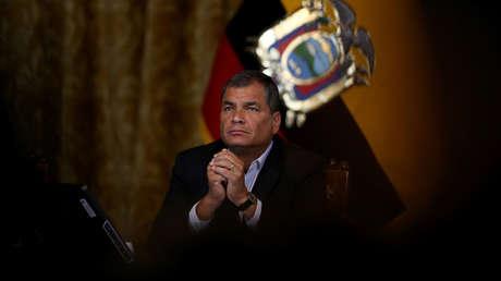 Correa en una conferencia de prensa en Quito, Ecuador, 22 de febrero de 2017.