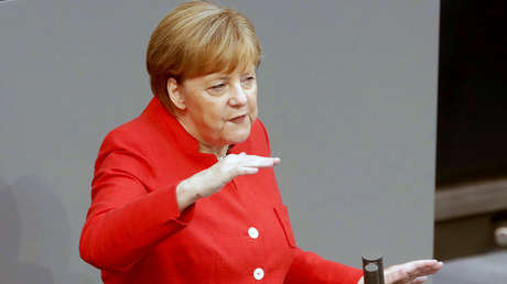 Canciller alemana Angela Merkel en Berlín (Alemania), 4 de julio de 2018.