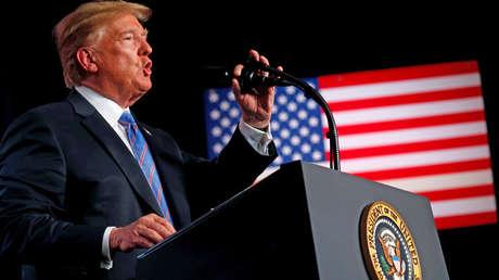 El presidente estadounidense, Donald Trump, en un discurso en Virginia, el 3 de julio de 2018.