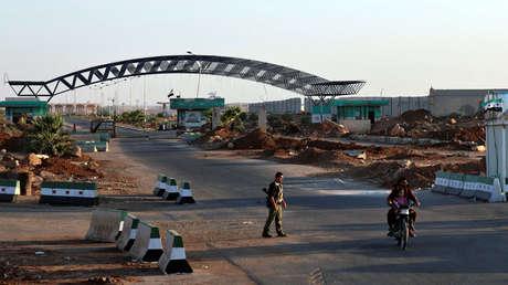 Frontera sirio-jordana en el cruce de Nasib en la provincia de Deraa, Siria el 27 de agosto de 2017.
