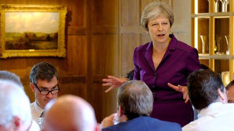 La primera ministra británica, Theresa May, el 6 de julio de 2018