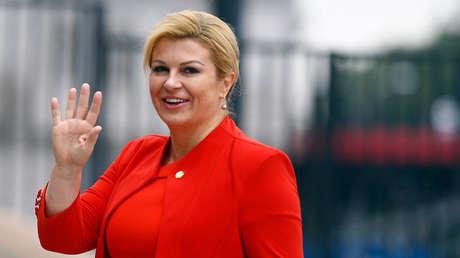 La presidenta de Croacia, Kolinda Grabar-Kitarovic.