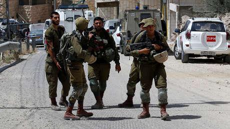 Soldados israelíes en Hebrón, en la ocupada Cisjordania, el 2 de junio de 2018.