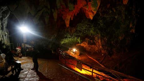 Conteo de las personas que trabajaron en la cueva Tham Luang, Tailandia, 10 de julio de 2018.