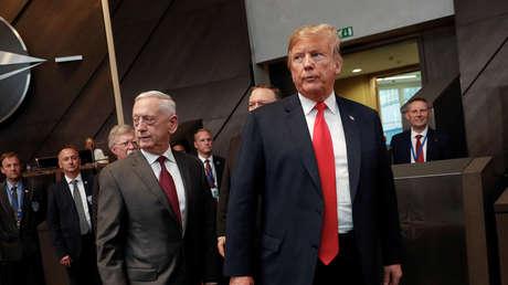 El secretario de Defensa y el presidente de Estados Unidos, James Mattis y Donald Trump.