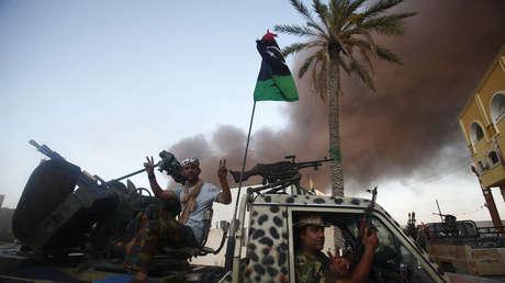 Combatientes rebeldes en Trípoli, Libia, el 25 de agosto de 2011.