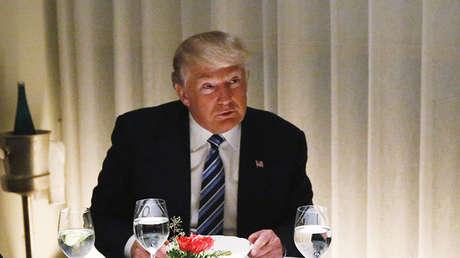 El presidente de EE.UU., Donald Trump, durante una cena en el Trump International Hotel & Tower en Nueva York (EE.UU.), el 29 de noviembre de 2016.