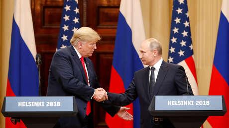 El presidente ruso, Vladímir Putin, y el estadounidense, Donald Trump, en  Helsinki, Finlandia, el 16 de julio de 2018