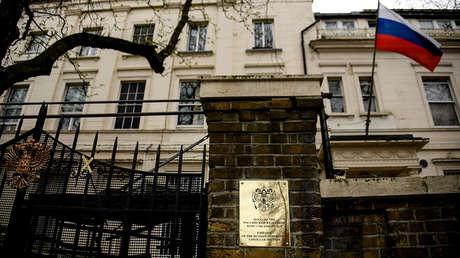 El edificio de la Embajada rusa en Londres, Reino Unido