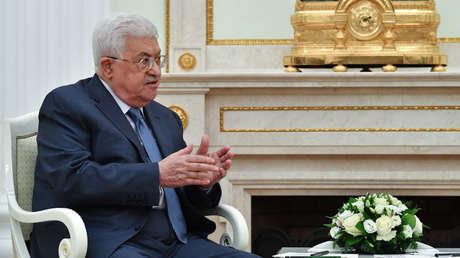El presidente palestino Mahmud Abbás. 14 de julio de 2018.