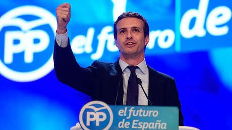 Pablo Casado, nuevo presidente del Partido Popular, Madrid 21 de julio de 2018.