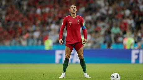 Cristiano Ronaldo en el partido Portugal-España durante el Mundial 2018 de Rusia, en Sochi, el 15 de junio de 2018.